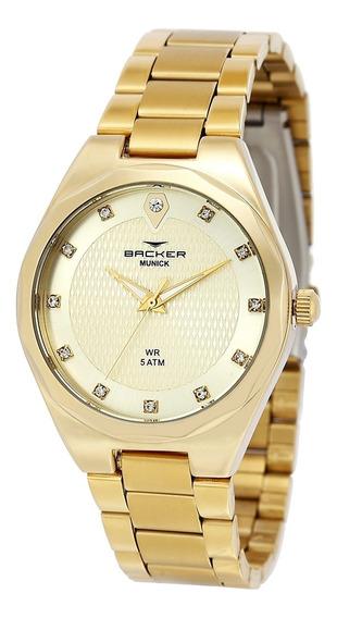 Relógio Feminino Backer Analógico 12007145f - Dourado