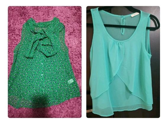 Dos Blusas Verde Y Aqua