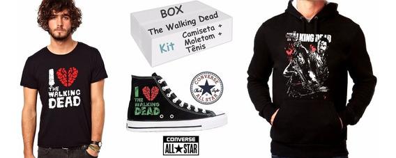 The Walking Dead Moletom + Tênis + Camiseta Box Frete Grátis