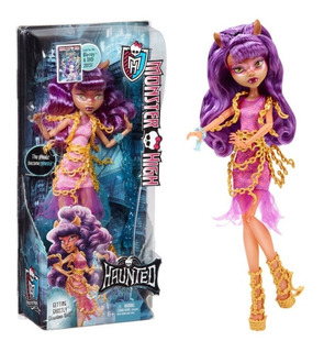 Monster High Haunted Getthing Ghostly Clawdeen Wolf Muñeca