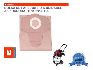 Bolsa De Papel Para Aspiradora 30 Litros Einhell Te-vc 2230
