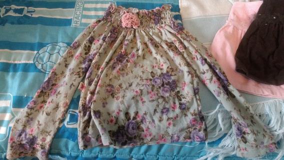 Sweaters Nena Talle 2 . .buzo Plush Sin Capucha,flores