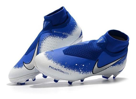 Chuteira Nike Phantom Vision Elite Euphoria Mode Blue Fg