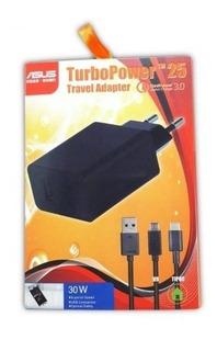 Carregador Turbo Asus Zenfone 2 3 4 5 6 Selfie Laser Go Live