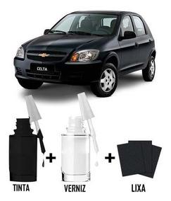 Tinta Tira Risco Automotivo Chevrolet Celta Preto Global