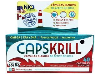 Capskrill Omega 3 Aceite De Krill X 40 Caps 4 Cajas
