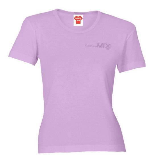 5 Camisetas Baby Look 100% Poliéster Para Sublimação