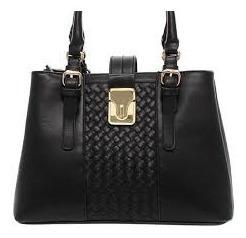 Bolsa Shop Bag C/ Trissê Preta Sabrina Sato
