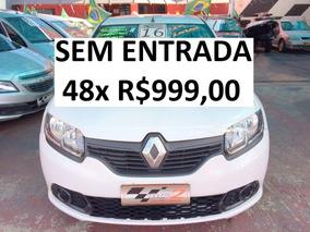 Renault Sandero 1.0 Completo - Sem Entrada 48x R$990,00