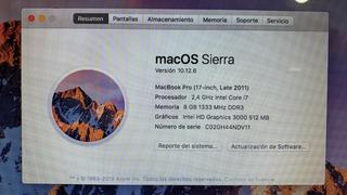 Mac Book Pro 17 Pulgadas
