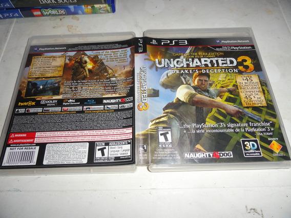 Uncharted 3 Ps3 Midia Fisica Original