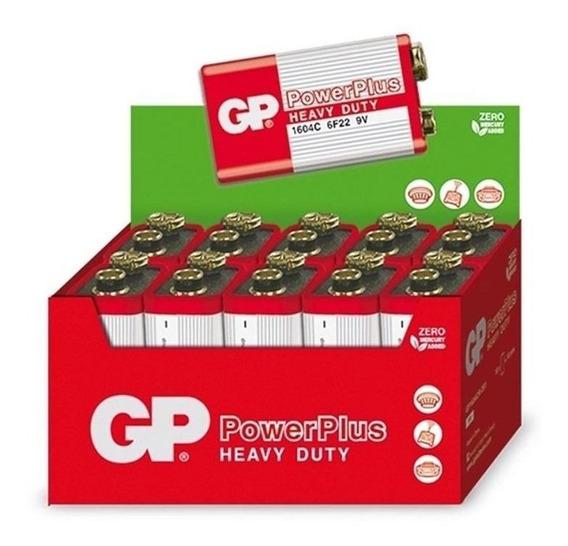 Bateria Pilha 9v Gp Hw 6f22m Caixa 10 Uni. Pronta Entrega