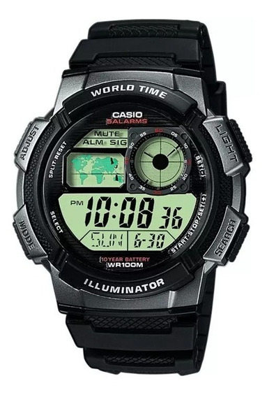 Relógio Casio Masculino Illuminator Ae-1000w-1bvdf Original