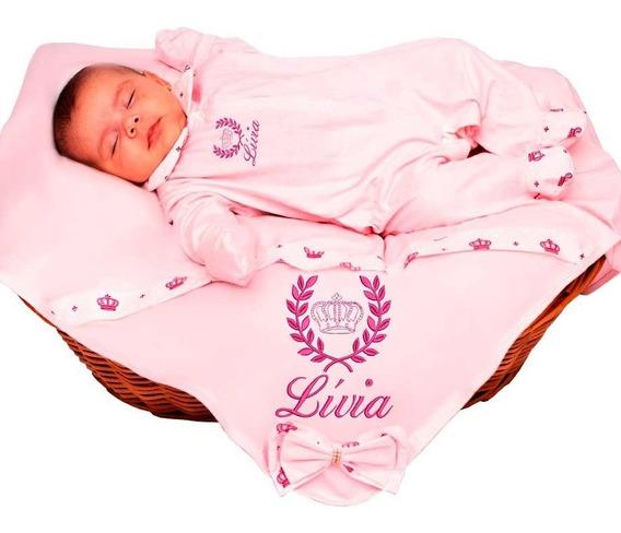 Kit Saída Maternidade Imperial Bebê Menino Personalizável