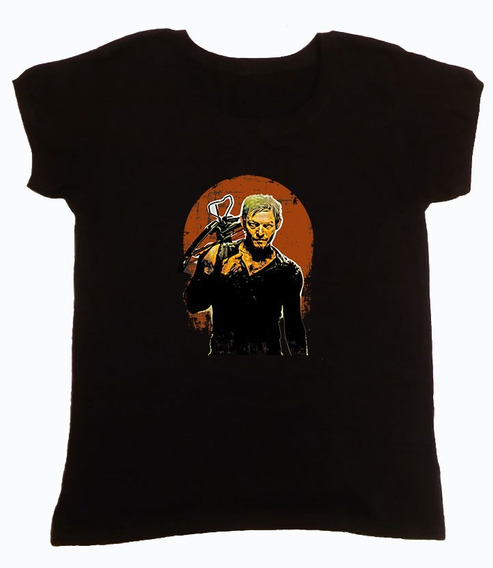 Remera The Walking Dead Daryl Negro Mod 4 Hotarucolections