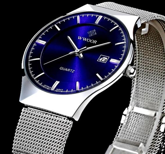 Relógio Wwoor Original Aprova De Água Promoção