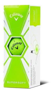 Kaddygolf Pelotas Golf Callaway Supersoft - Tubo X3 - Verde