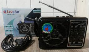 Radio Portátil Livstar Am/fm/sw Usb/cartão Cnn-2217ru