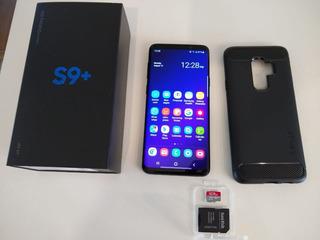 Samsung S9 Plus Preto - Na Caixa - Zerado +capa+card 128gb