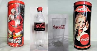 Lote X 4 De Coca Cola Colección (1 Botella, 2 Latas, 1 Vaso)