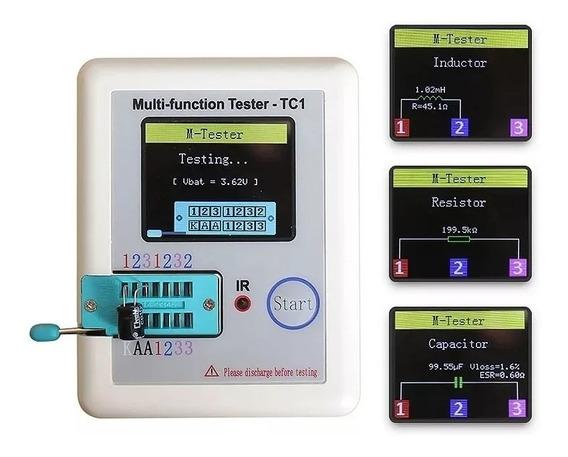 Testador Medidor De Componentes Eletrônicos - Bateria Interna Recarregável - Lcr Tc1 - Color