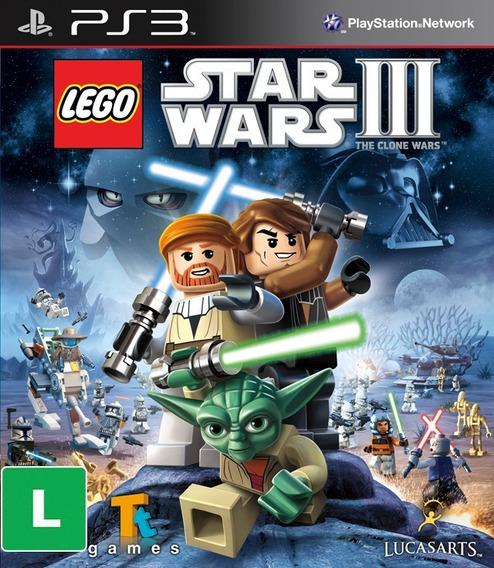 Game Play3 - Lego Star Wars 3 - Semi-novo Jogo Ps3