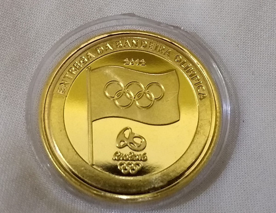 5 Moedas Da Entrega Da Bandeira Olimpíadas Rio 2016- Leia!!!