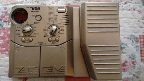 Pedaleira Zoom 606 Guitarra C/pedal Expressão+fonte Cod 089