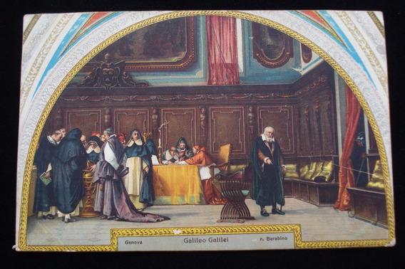 Antigua Tarjeta Postal Edición Del Portofino Galileo Galilei
