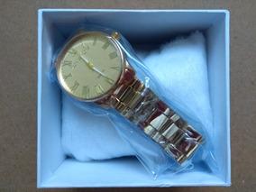 Relógio De Luxo Feminino Dourado Com Caixa Promoção