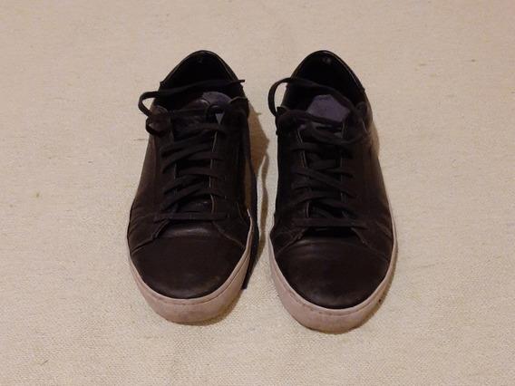 Zapatillas Mood Vari - Cuero Negras - Hombre