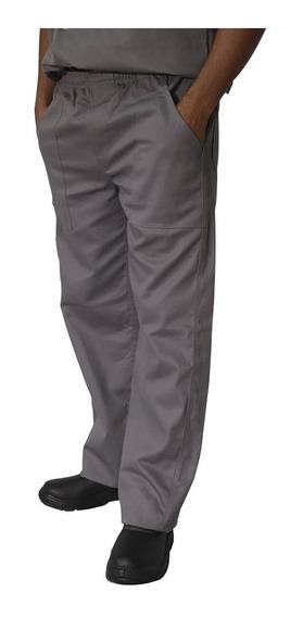 Calças Em Brim (04uni) Uniforme Profissional Cinza