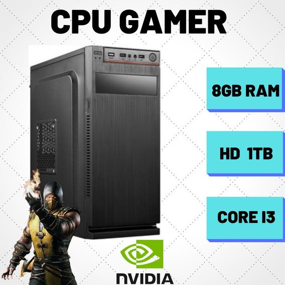 Cpu Gamer Intel I3 8gb Hd 1tb Windows 10 + 750ti 2gb
