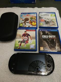 Consola Psvita Slim 3.69, Tarjeta 16 Gb, +4 Juegos Físicos