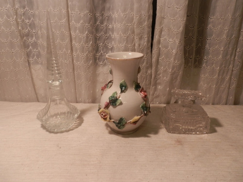 Perfumero Cristal 2 Y Florero