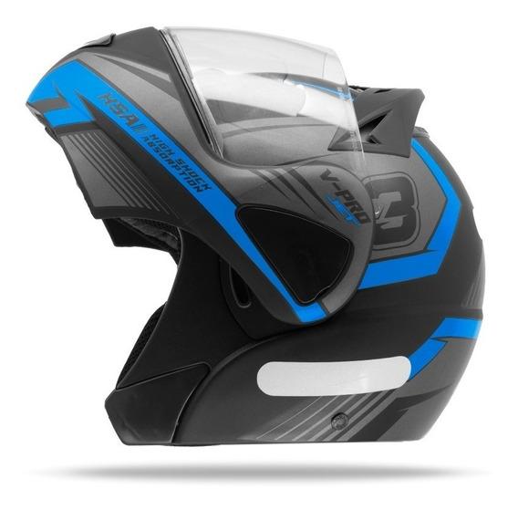 Capacete Robocop Feminino Pro Tork V Pro Jet 3 Azul Claro