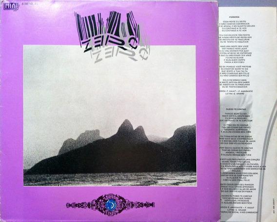 Zero Lp 1985 Passos No Escuro + Encarte Lp 10376