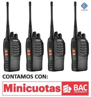 Kit De 4 Radios De Comunicacion Baofeng 888s [3km Alcance]