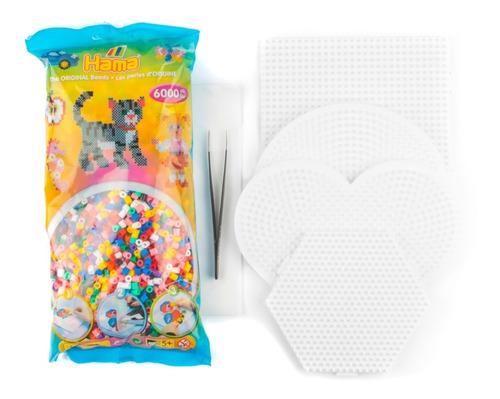 Kit Inicial Hama Beads Midi Perler Mix Colores Pixel
