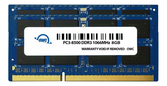Memoria Ram 8gb Owc (2 X 4gb) Pc8500 Ddr3 1066 Mhz 204-pin Upgrade Kit (owc8566ddr3s8gp) Para Macbook Pro Macbook Mac Mi