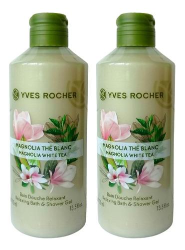 Imagen 1 de 2 de Duo Gel Ducha Corporal Yves Rocher Flor De Magnolia *2piezas