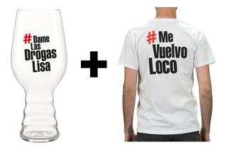 Promo Navideña Remera + Copa Ipa El Chacal