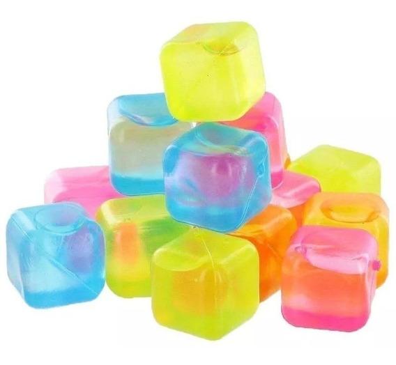 Kit 20 Cubos De Gelo Artificiais Reutilizáveis Coloridos