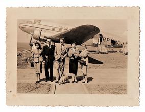 Fotografia Antiga Panair Douglas Dc-3 Pp-pcj - Anos 50
