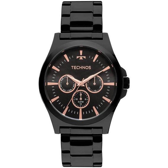 Relógio Technos Masculino Multifunção 6p29ajl/4p Preto Rose
