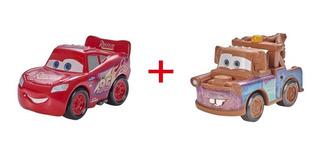 Disney Cars Mini Corredores Mcqueen + Mate - Original Mattel