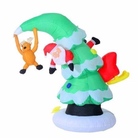 Arbolito Inflable Iluminado Santa Claus Navidad Xtr C