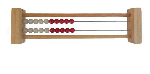 Imagen 1 de 1 de Ingeniacrea: Ábaco Rekenrek De Dos Filas Matemáticas/ Madera