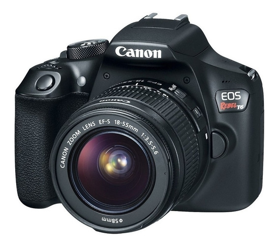 Canon EOS Rebel T6 18-55mm III Kit DSLR color negro