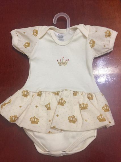 Bodie Infantil Feminino Coroa - P